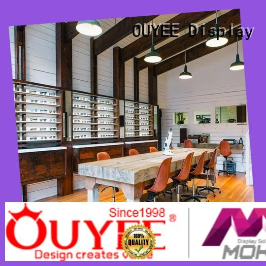 wooden optical display cases top brand for chain shop OUYEE