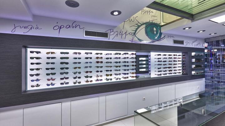 wooden eyewear cabinet top brand OUYEE-2