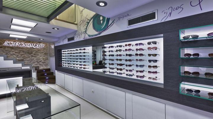 wooden eyewear cabinet top brand OUYEE-3