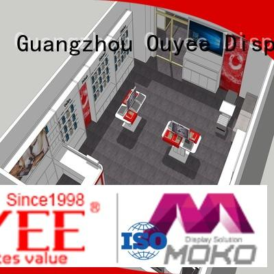 OUYEE Brand mobile store phone repair kiosk mdf supplier