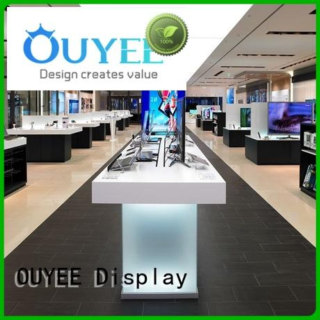 OUYEE Brand accessories phone repair kiosk cabinet supplier