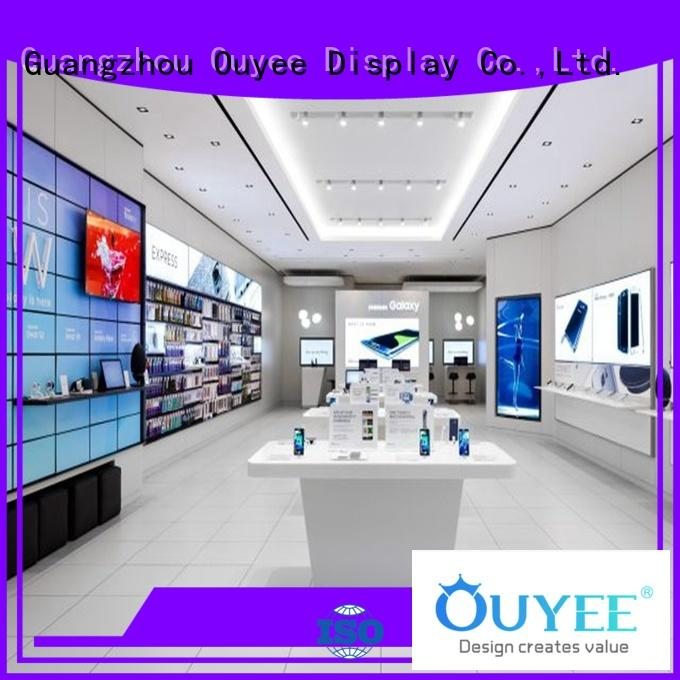 OUYEE top brand cell phone display case showcase for decoration