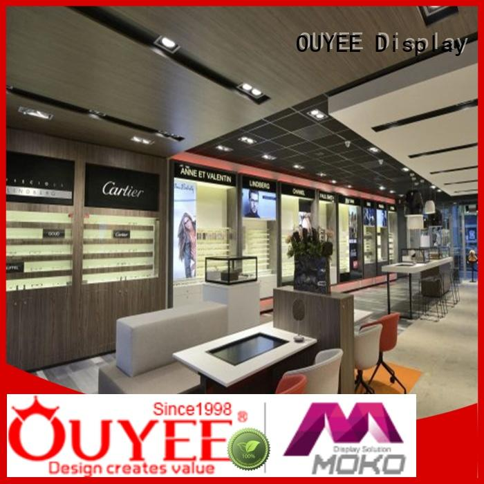 interior store optical displays glass OUYEE Brand