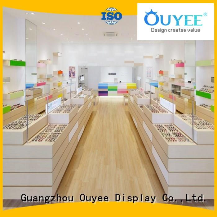 OUYEE universal glass tower display case for wholesale for shop