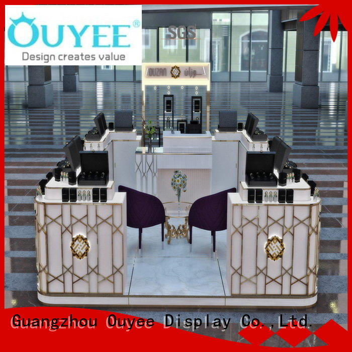 OUYEE custom curved reception desk bulk production for supermarket