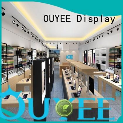 cabinet Custom design electronic shop display plywood OUYEE