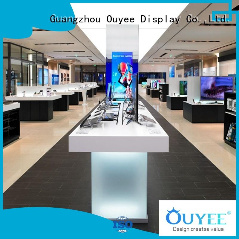 OUYEE plywood mobile phone shop counter design fast delivery for electronics